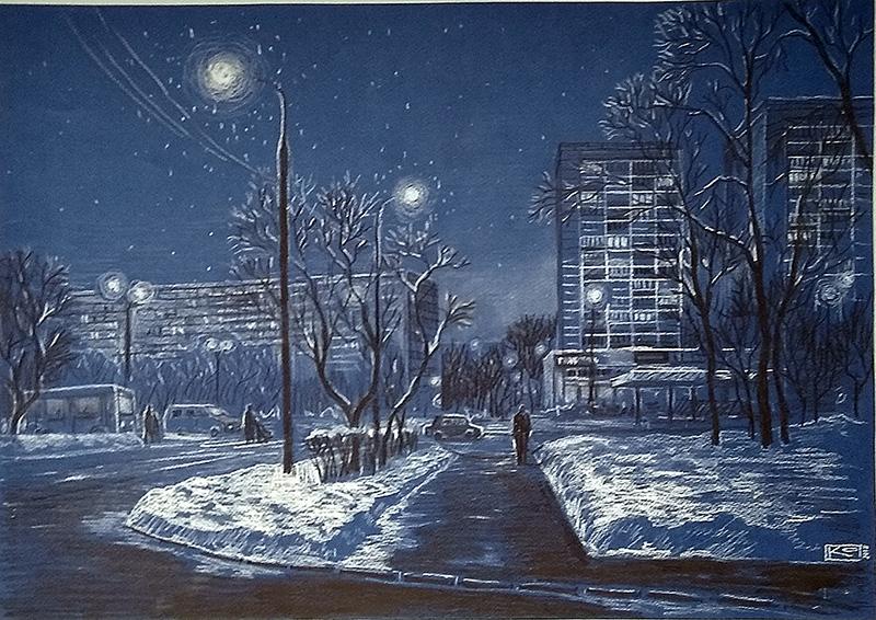 Зимний вечер в Зеленограде