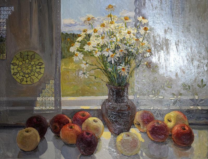 Ромашки с яблоками