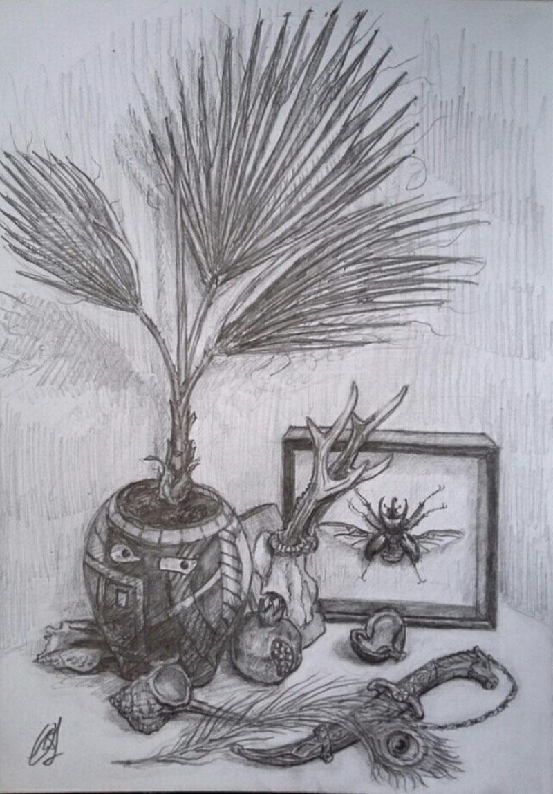 Карандашная зарисовка