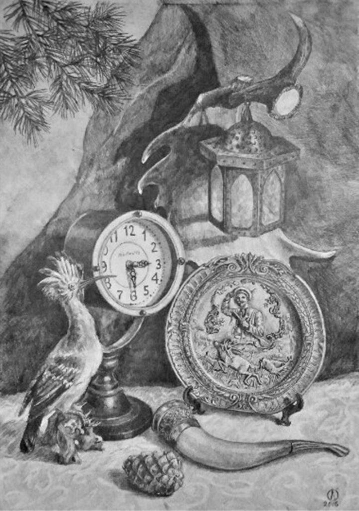 Натюрморт с часами