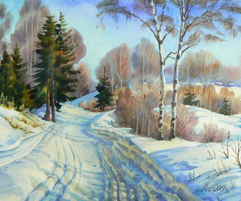Зима. Дорога к Клушино