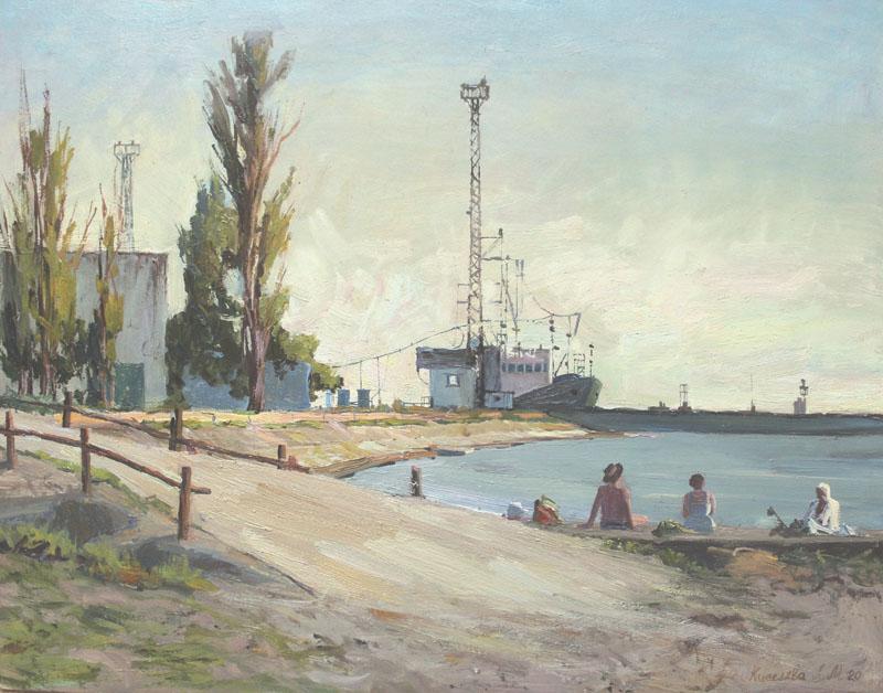 Азовское море. Приморско-Ахтарск. Вид на судоверфь